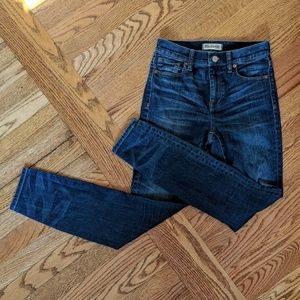 Madewell high riser skinny jeans size 26